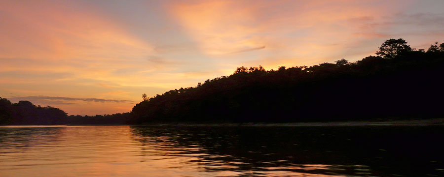 Sunset in Manu River