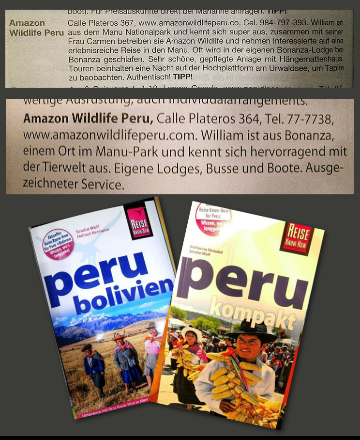 Amazon Wildlife Peru References